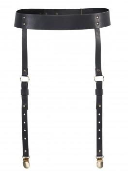 fournisseur bijoux indiscrets Porte-jarretelles cuir noir réglable