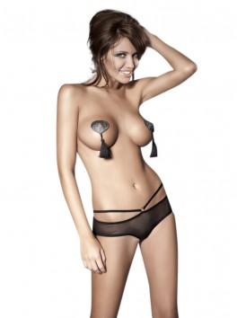 Tess Open Panty - Black