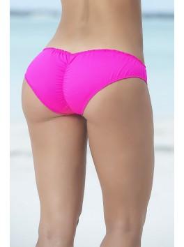 grossiste Mapalé Bas de bikini slip échancré rose bas de maillot de rose slip froncé