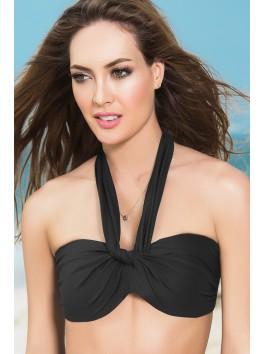 Fournisseur Mapalé Haut de bikini multi-positions noir top maillot de bain bandeau coques