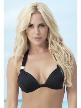 Fournisseur Mapalé Haut de bikini push-up noir top maillot de bain triangle et bijoux bretelles