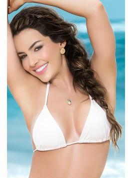 grossiste bikini Haut de bikini blanc sexy top maillot de bain triangle