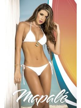 grossiste maillot de bain Bikini string et top triangle sexy blanc