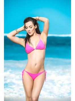 fournisseur maillot de bain Bikini string et top triangle sexy rose