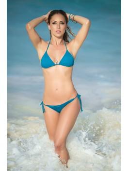 grossiste maillot de bain Bikini string et top triangle sexy bleu turquoise
