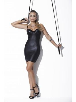 fournisseur pret à porter Robe libertine clubwear style cuir poitrine bustier