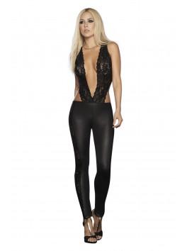 grossiste Mapalé Combinaison noir façon top dentelle et legging