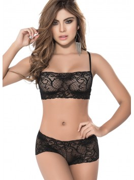 Lace set black 206