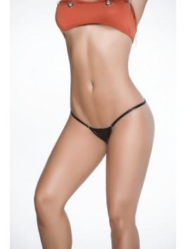 vente en gros lingerie sexy String sexy noir wetlook dos en forme Y