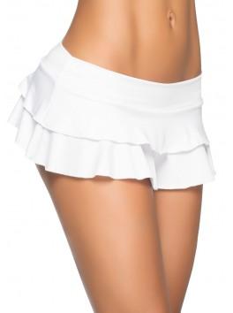Grossiste vetement mode Mini-jupe blanche très courte à volants
