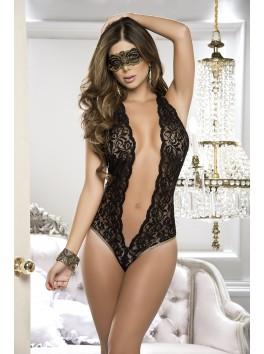 Grossiste lingerie sexy Body noir dentelle très décolleté et dos nu