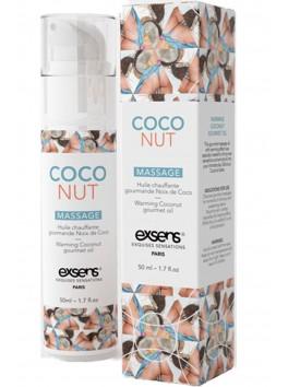 grossiste Exsens Huile massage noix de coco chauffante et comestible texture douce