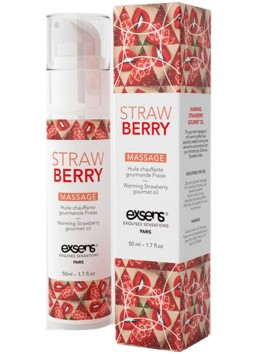 Warming Strawberry gourmet oil - 50ml exsens supplier