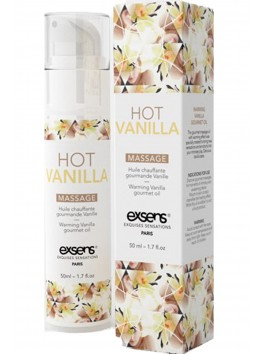grossiste Exsens Huile massage vanille chauffante et comestible texture douce