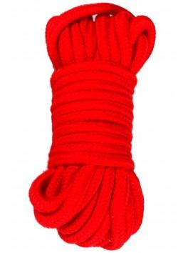 Corde de bondage rouge jeux BDSM