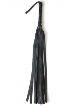 Fouet en cuir noir de 45cm pour punitions bdsm