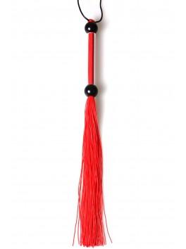 Fouet en silicone rouge avec manche