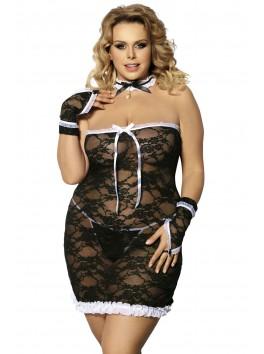 Fournisseur Anais Costume sexy grande taille de servante femme de chambre