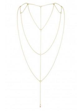 grossiste bijoux indiscrets Chaine dorée pour dos nu ou décolleté