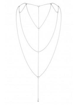 grossiste bijoux indiscrets Chaine argentée pour dos nu ou décolleté