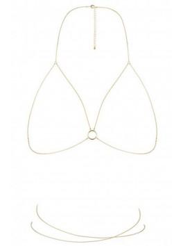 fournisseur bijoux indiscrets Chaine dorée de poitrine et taille