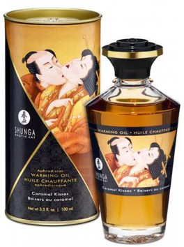 Grossiste Shunga Huile de massage chauffante comestible aphrodisiaque caramel pour zones erogènes