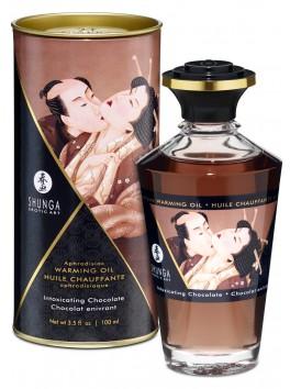 Grossiste Shunga Huile de massage chauffante comestible aphrodisiaque chocolat enivrant pour zones erogènes