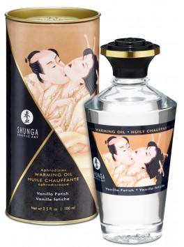 Fournisseur Shunga Huile de massage chauffante comestible aphrodisiaque vanille fetish pour zones erogènes