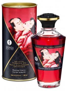 Fournisseur Shunga Huile de massage chauffante comestible aphrodisiaque cerise pour zones erogènes