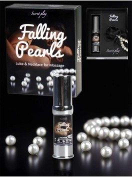 FALLING PEARLS - SILICONE LUBRICANT AND PEARL NECKLACE 3631