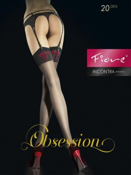 Incontra Stockings - Black and Red