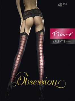 Valentis Stockings - Black and Red