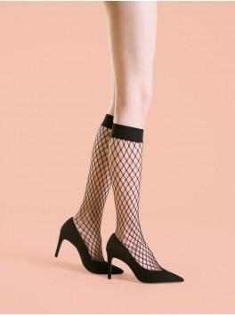 Mi-bas résille sexy pour femme Cabarette noir 0den Fournisseur Fiore