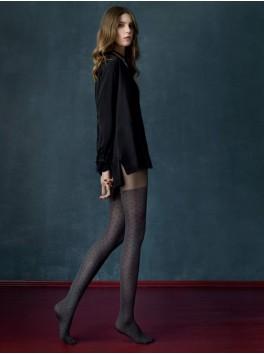 Collants élégants pour femmes à la mode Grey Cat noir 40den Fournisseur Fiore