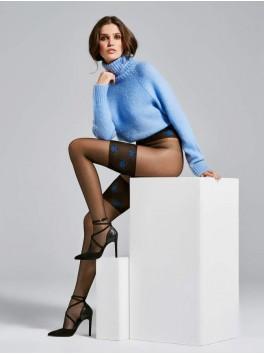 Collant fournisseur Fiore pour femmes Sky noir 20den à motifs