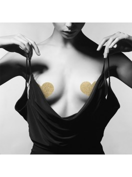 FLASH Gold Heart nipples Bijoux indiscrets