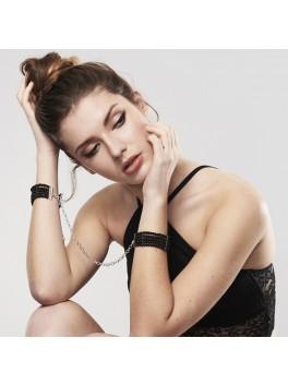 Handcuffs Plaisir Nacre Black - Bijoux Indiscrets