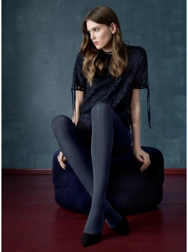 Tights navy blue Passage opaque 3D technology - Fiore