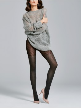 Black opaque patterned for women Tights Honest 40den provider Fiore