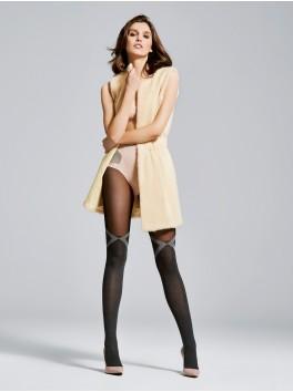 Collant femmes noir motif Milan 40den fournisseur Fiore