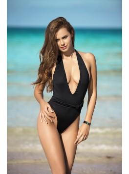 Maillot de bain noir pour femmes très sexy décolleté en V 6958 fournisseur mapalé