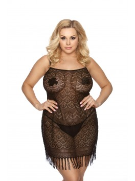 Geali Black chemise for women size plus provider anais apparel