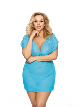 Nuisette bleue turquoise Ofeely femme ronde XXL collection lingerie femme Anais apparel