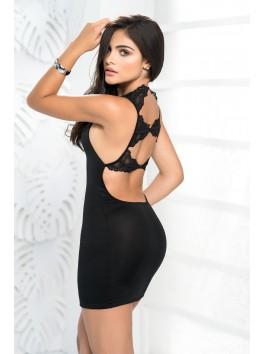 Robe noire moulante mapale style 4473