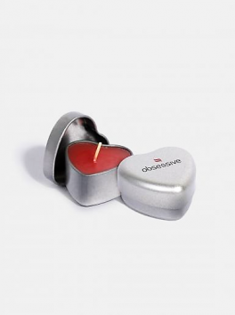Scented heart shaped candle