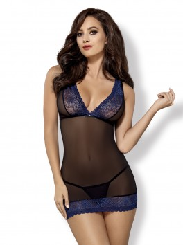 850-CHE-6 chemise & thong black