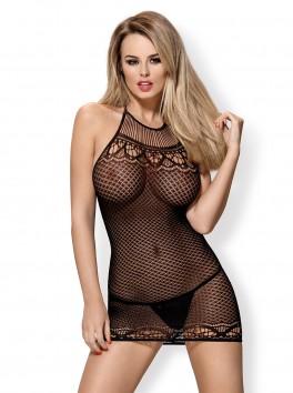 D226 Robe résille noire Obsessive lingerie