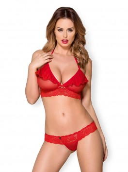 863-SET-3 Lingerie set 2-pcs red