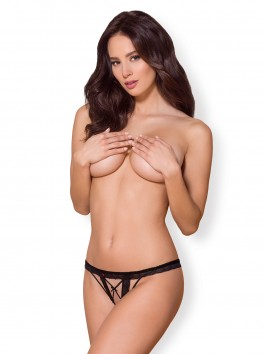 865-THC-1 Open Thong black