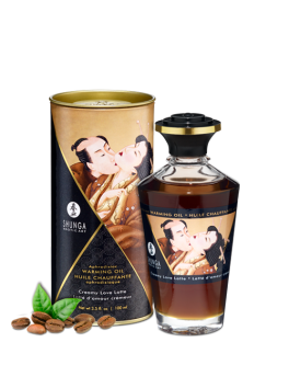 Aphrodisiac warming oil - Creamy Love Latte